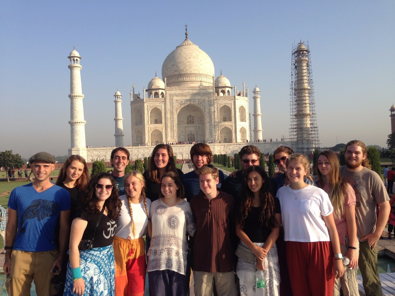 The entire team, at the Taj Mahal.