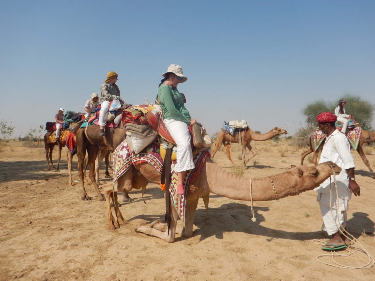 Scariest part of riding camels...getting on & off