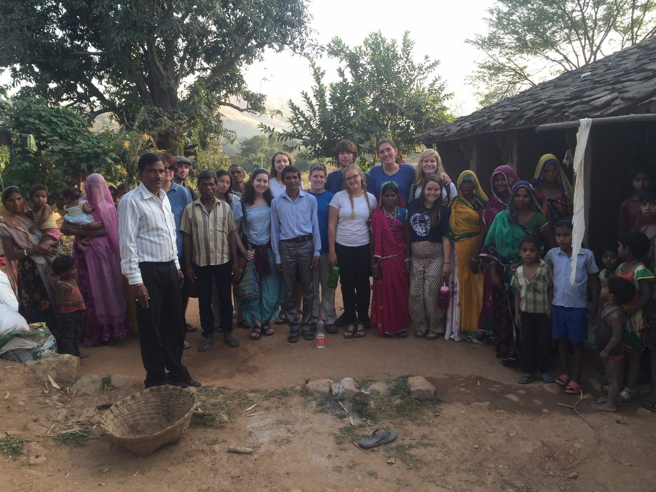 The team in Jhadol at their village home stay.
