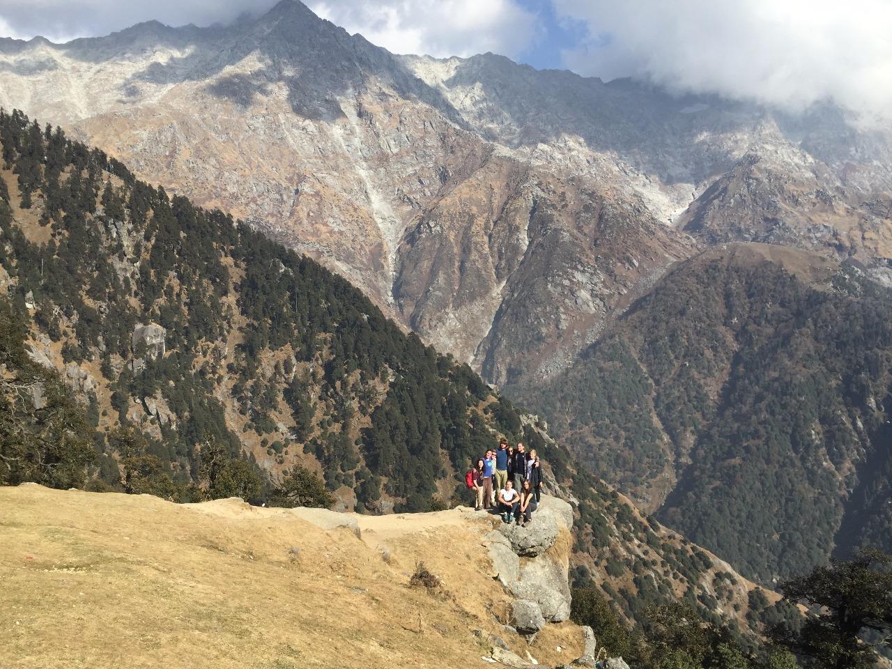 The team on Himalayan day hike above Dharamsala.
