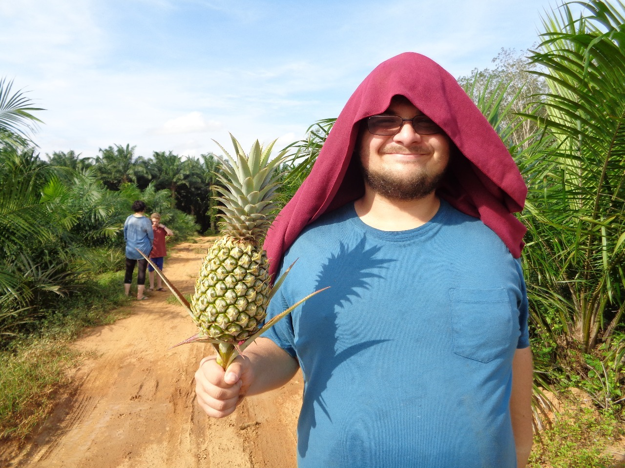 Charlie at a pineapple plantation.