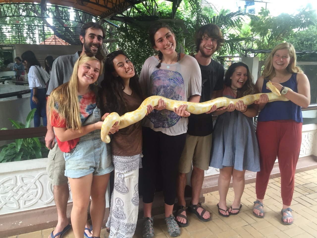 The team at the snake farm.