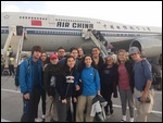 Most of the team after landing in Beijing.