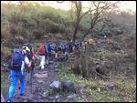 The team treks upward into the Himalayas!